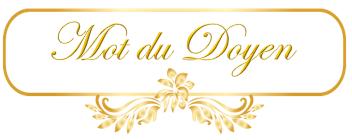 Mot du Doyen